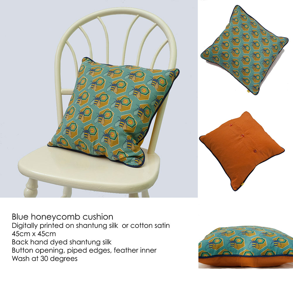 blue-honeycomb-cushion