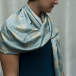 blue bee  scarf 2