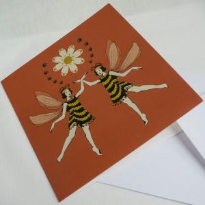 bee girl card