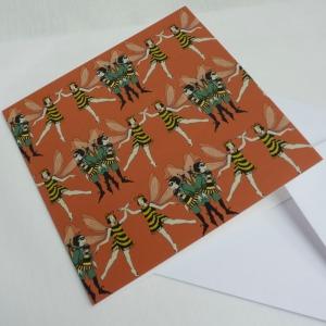 boy girl bee card