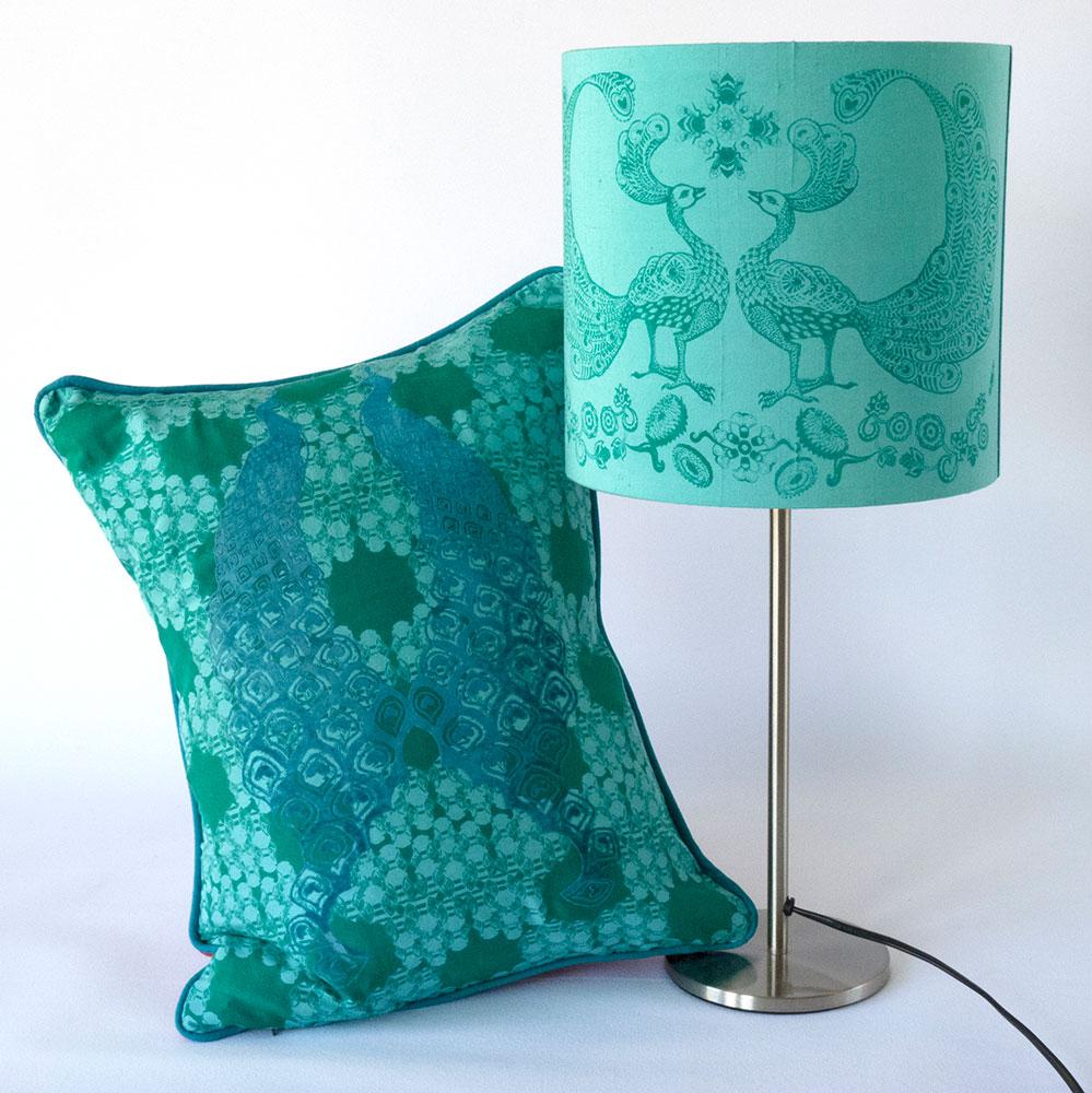 lamp-and-cush-flock-peacock-bee1