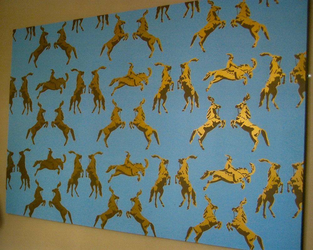 circus horses bluegold
